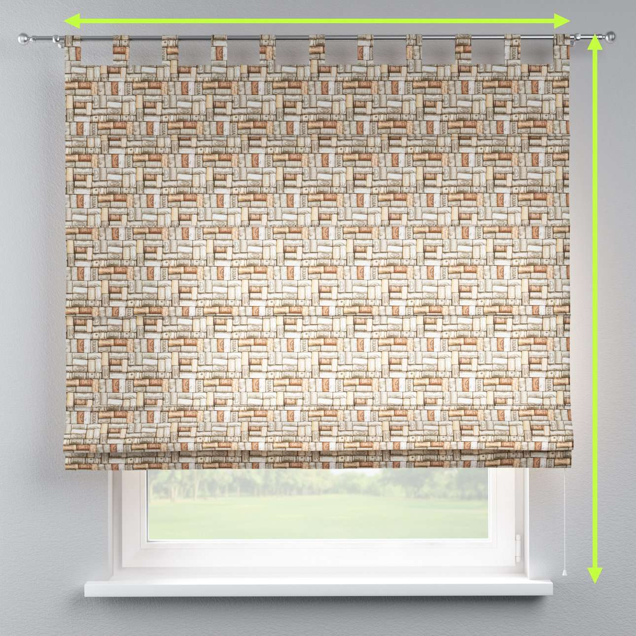 Verona tab top roman blind in collection Marina, fabric: 140-13