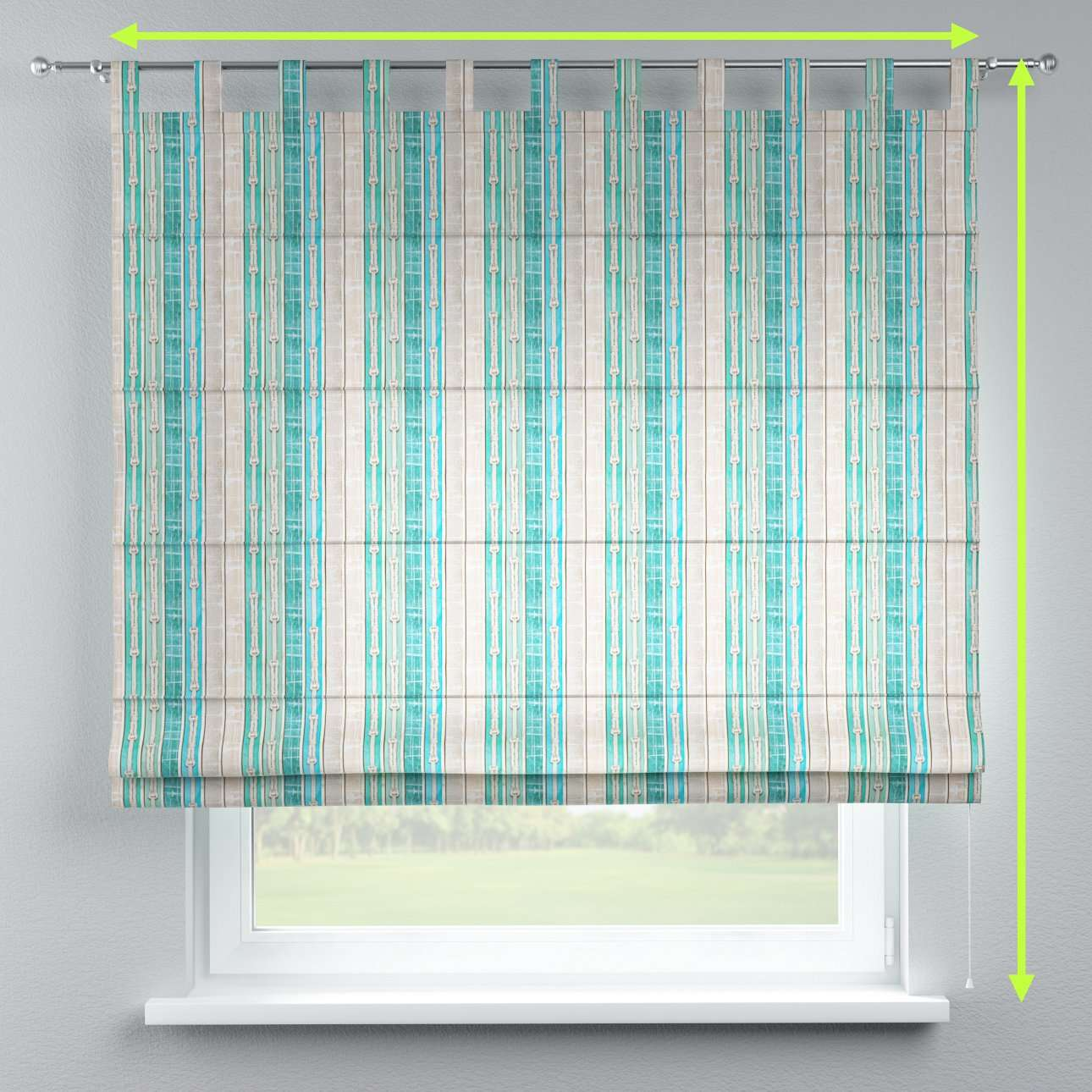 Verona tab top roman blind in collection Marina, fabric: 140-14