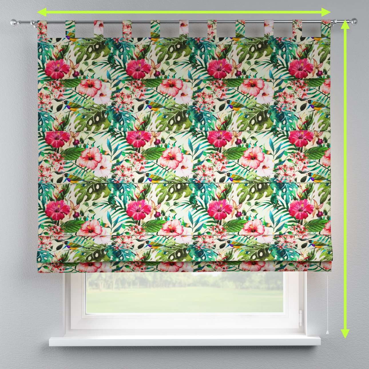 Verona tab top roman blind in collection New Art, fabric: 140-21