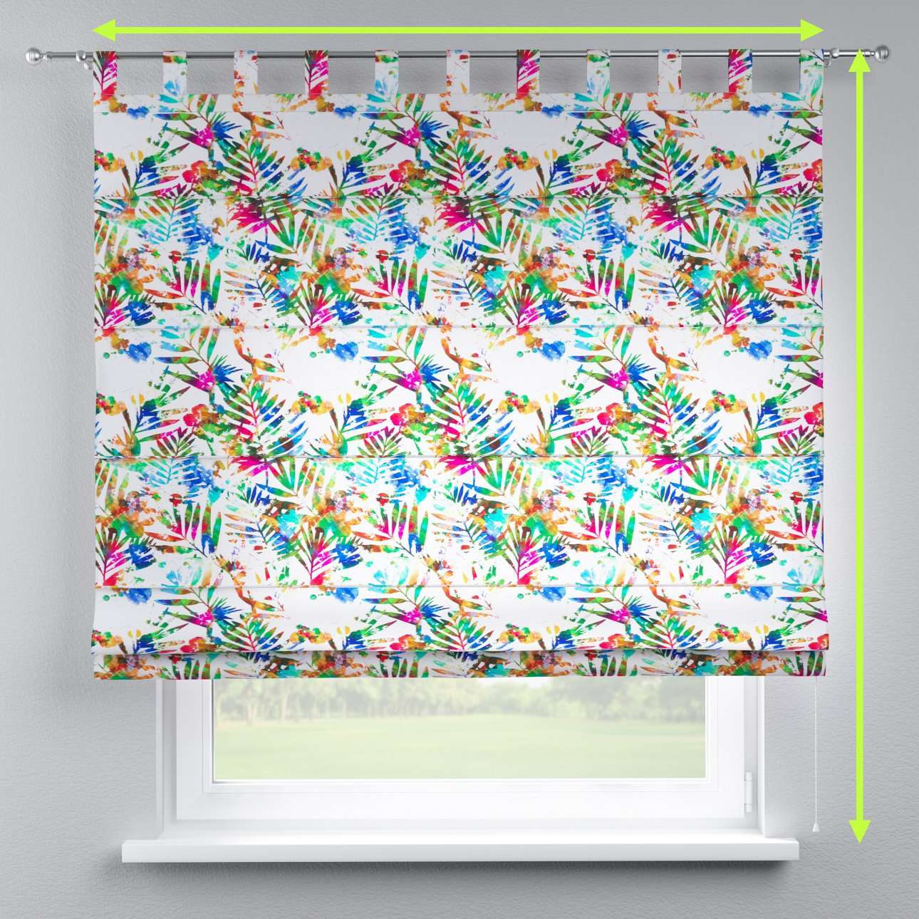 Verona tab top roman blind in collection New Art, fabric: 140-22