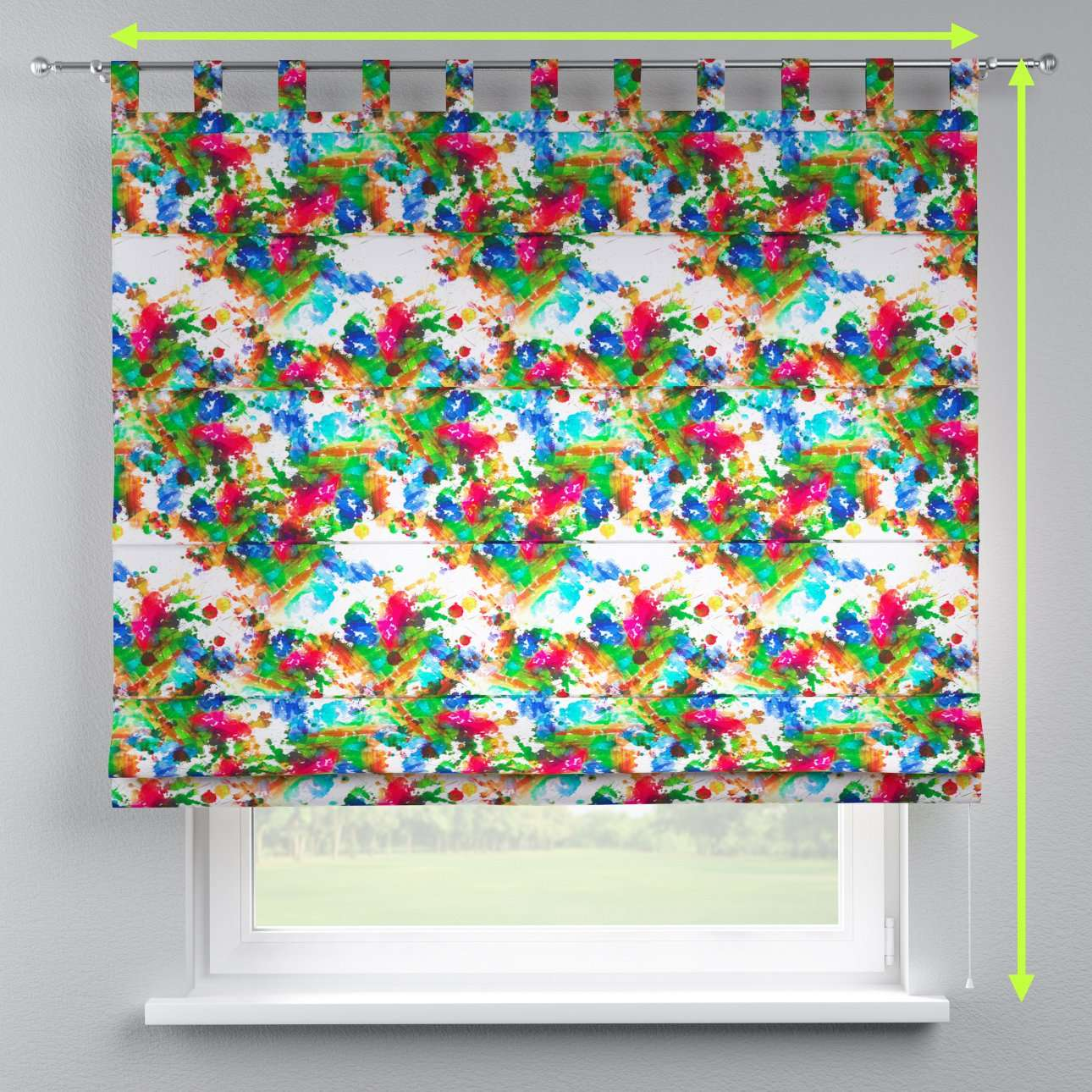 Verona tab top roman blind in collection New Art, fabric: 140-23