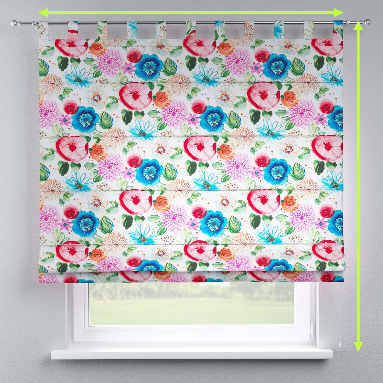 Verona tab top roman blind in collection New Art, fabric: 140-24