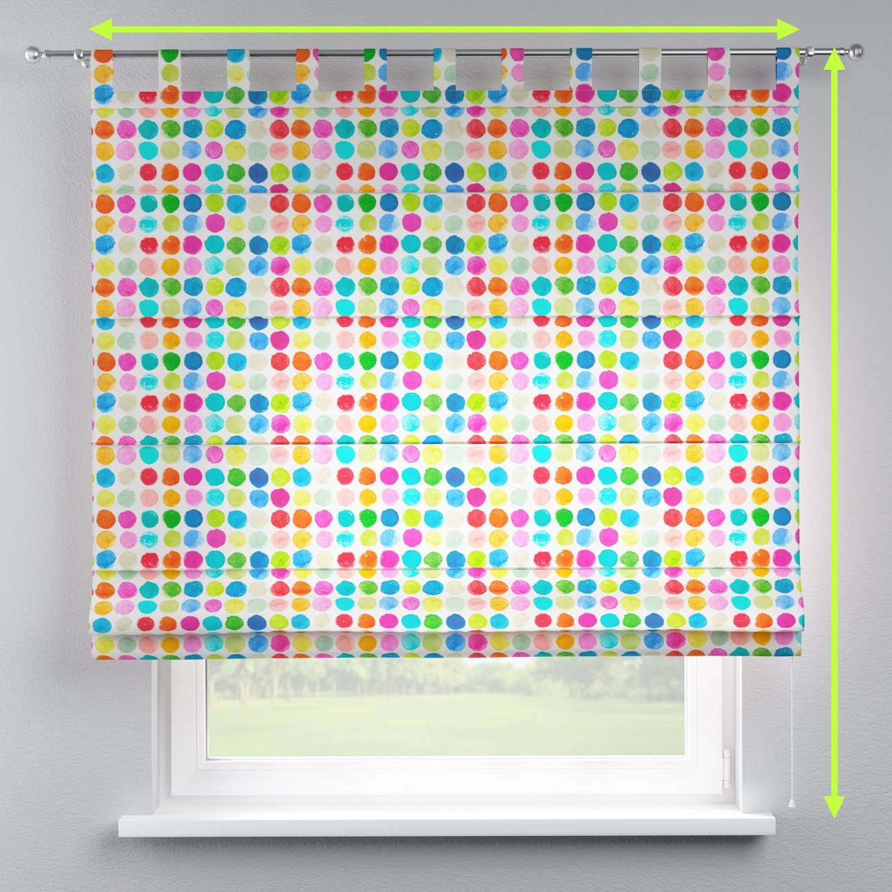 Verona tab top roman blind in collection New Art, fabric: 140-26