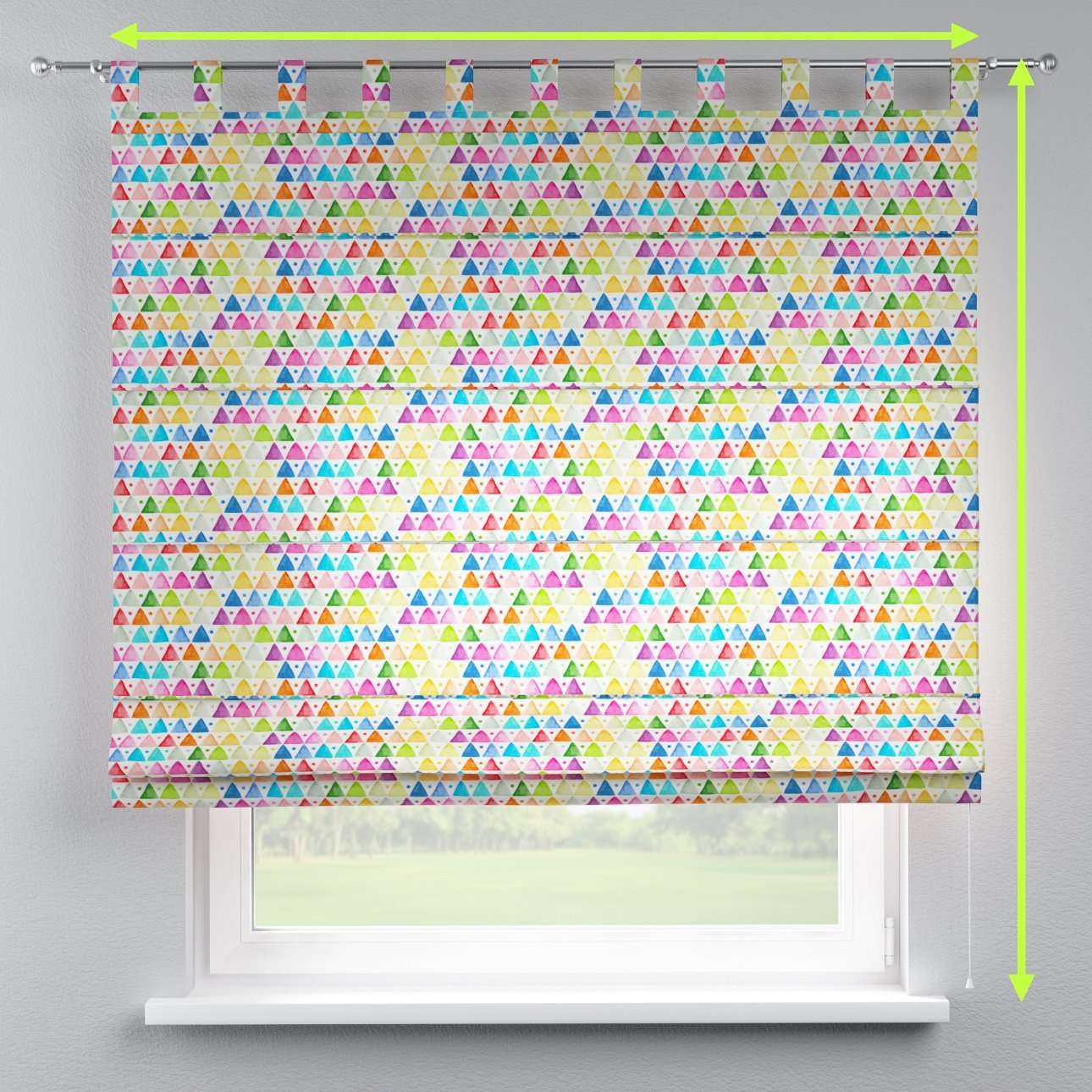 Verona tab top roman blind in collection New Art, fabric: 140-27