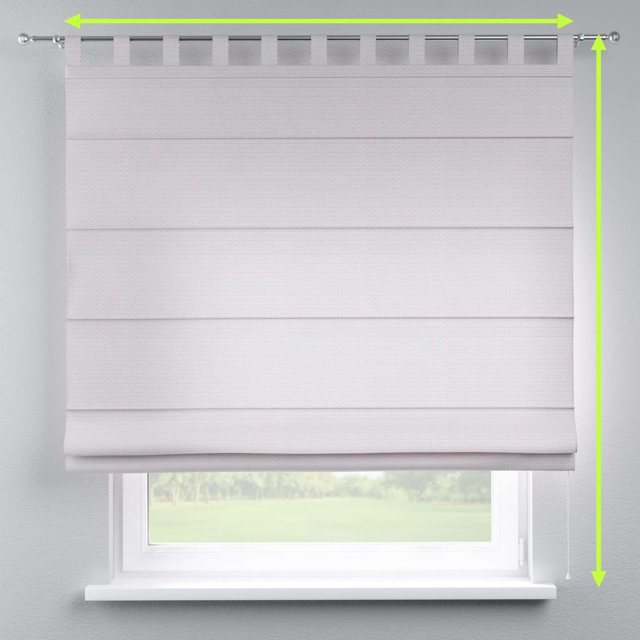 Verona tab top roman blind in collection Rustica, fabric: 140-28