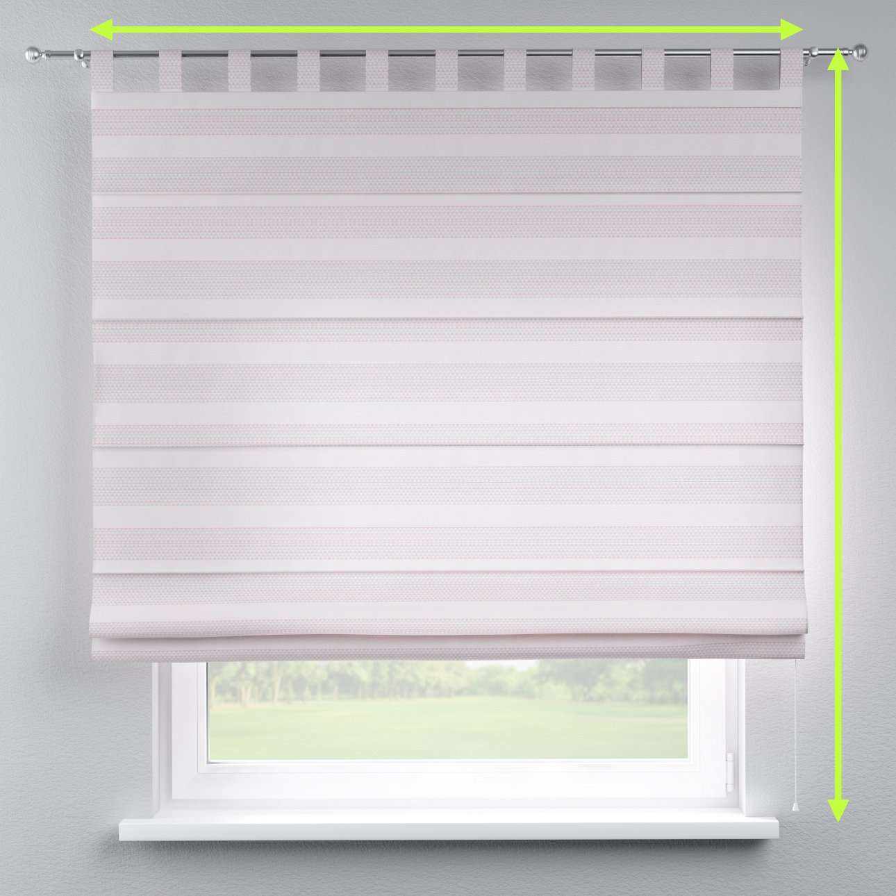Verona tab top roman blind in collection Rustica, fabric: 140-29