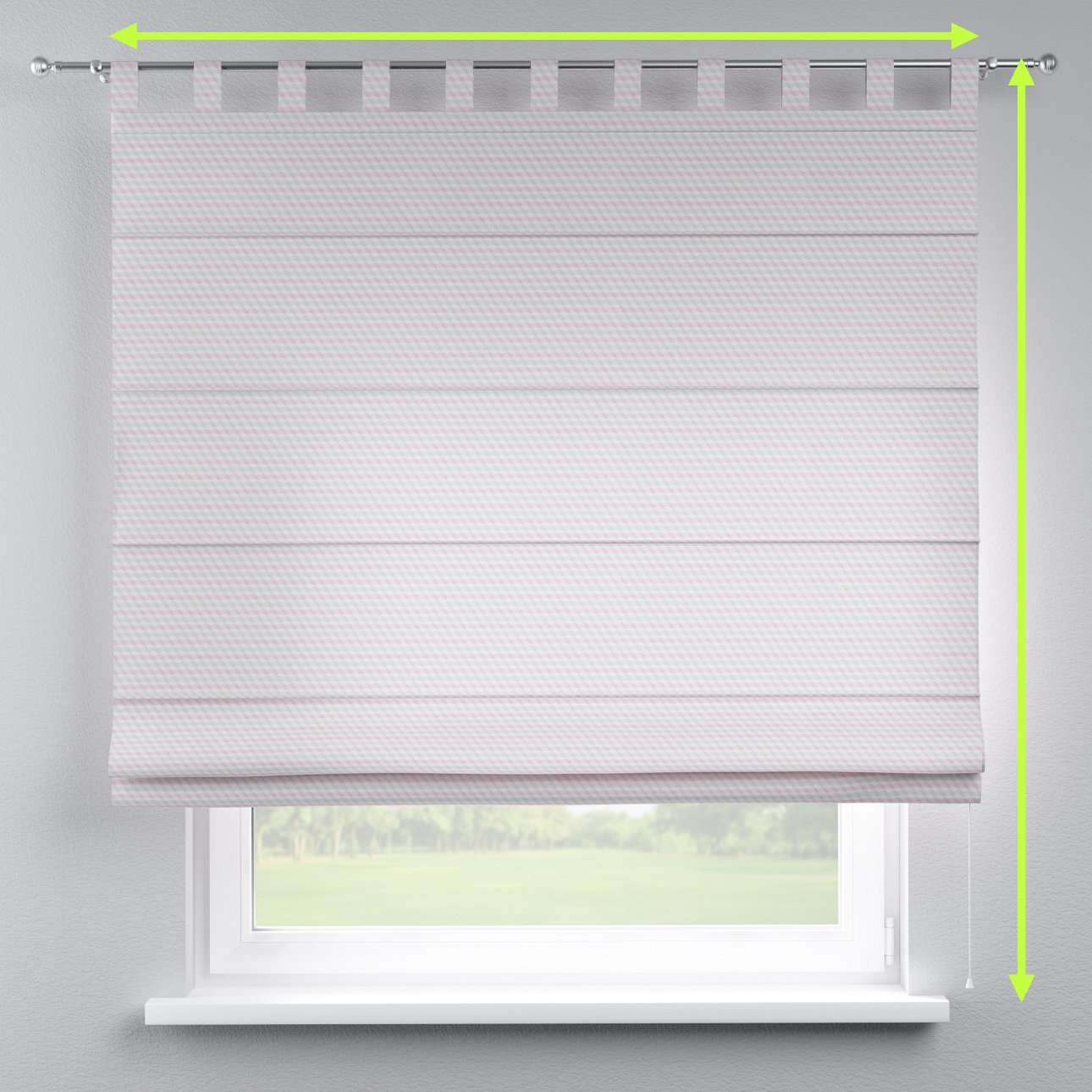 Verona tab top roman blind in collection Rustica, fabric: 140-30
