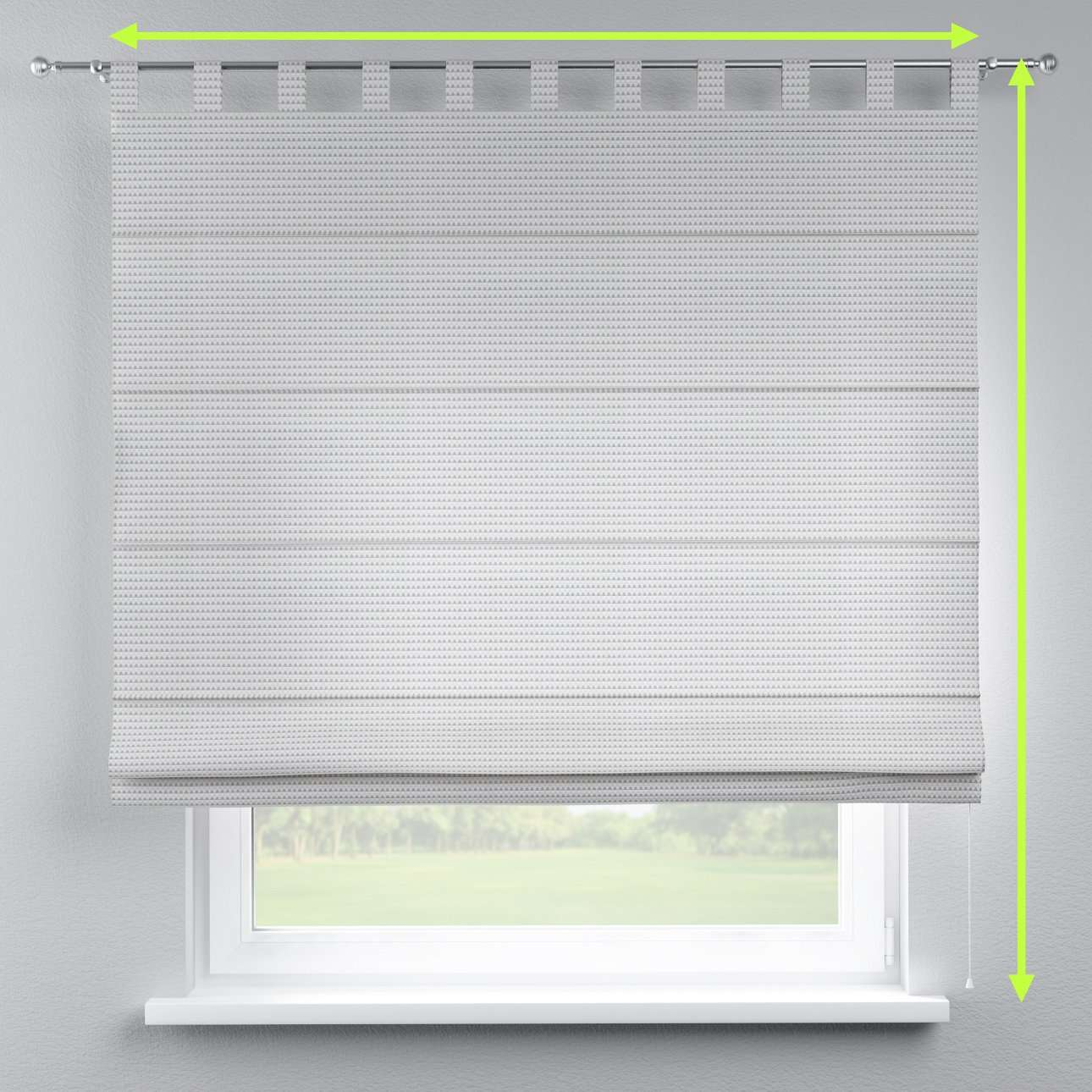 Verona tab top roman blind in collection Rustica, fabric: 140-31