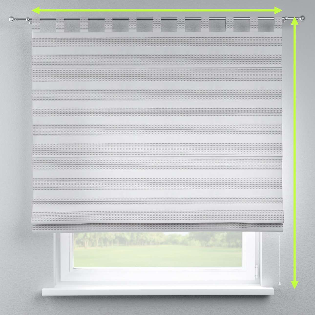 Verona tab top roman blind in collection Rustica, fabric: 140-32