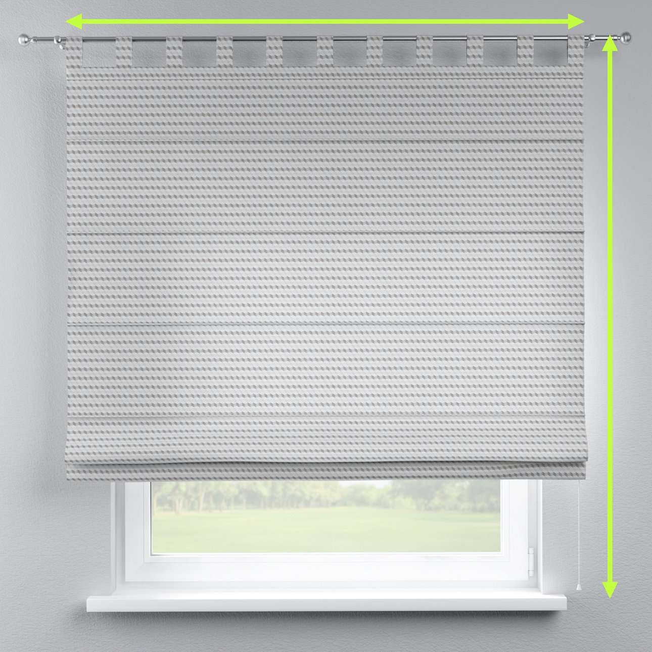 Verona tab top roman blind in collection Rustica, fabric: 140-33