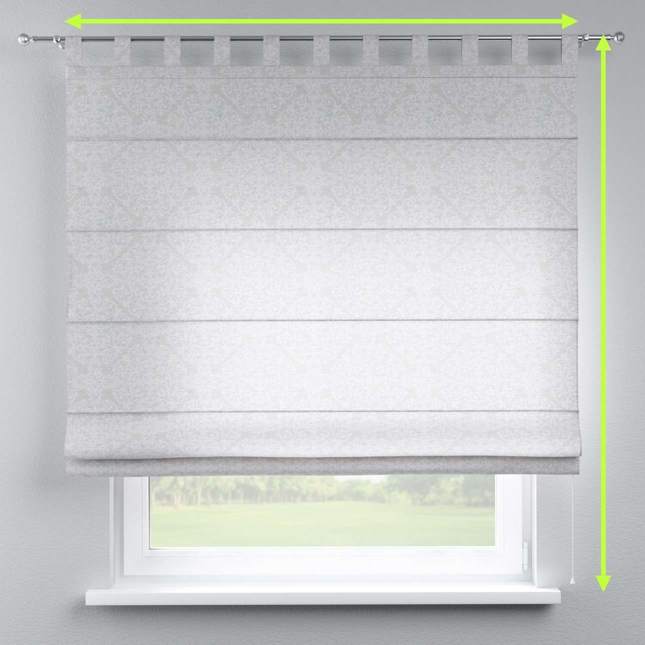 Verona tab top roman blind in collection Venice, fabric: 140-49