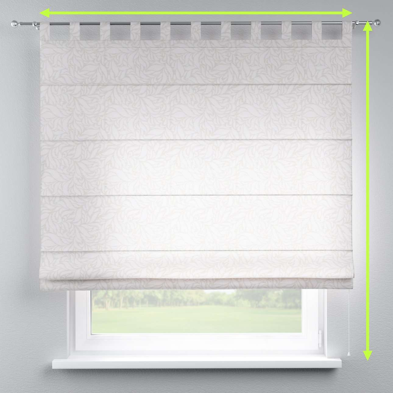 Verona tab top roman blind in collection Venice, fabric: 140-50