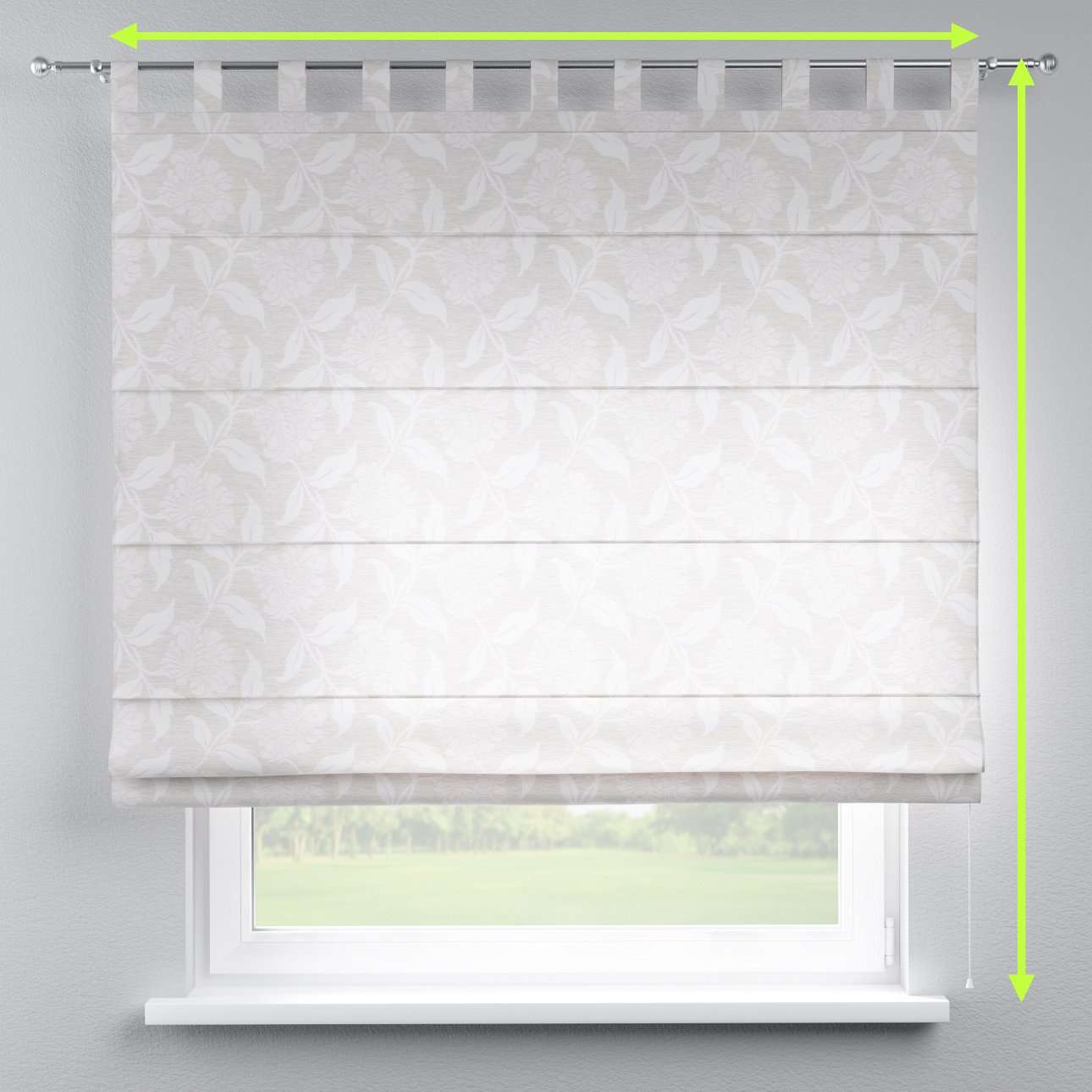 Verona tab top roman blind in collection Venice, fabric: 140-51