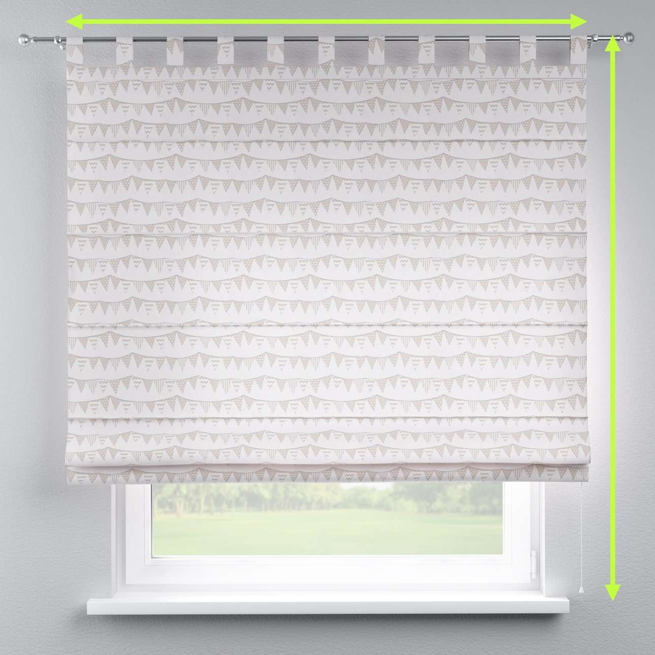 Verona tab top roman blind in collection Marina, fabric: 140-65
