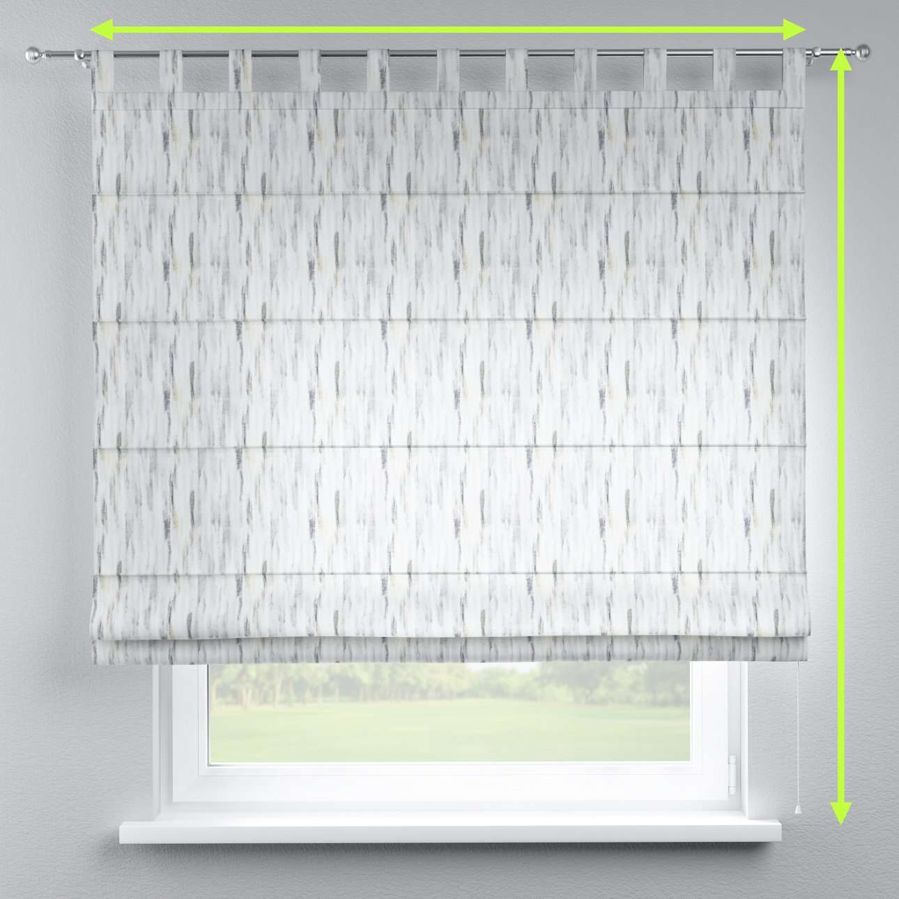 Verona tab top roman blind in collection Aquarelle, fabric: 140-66