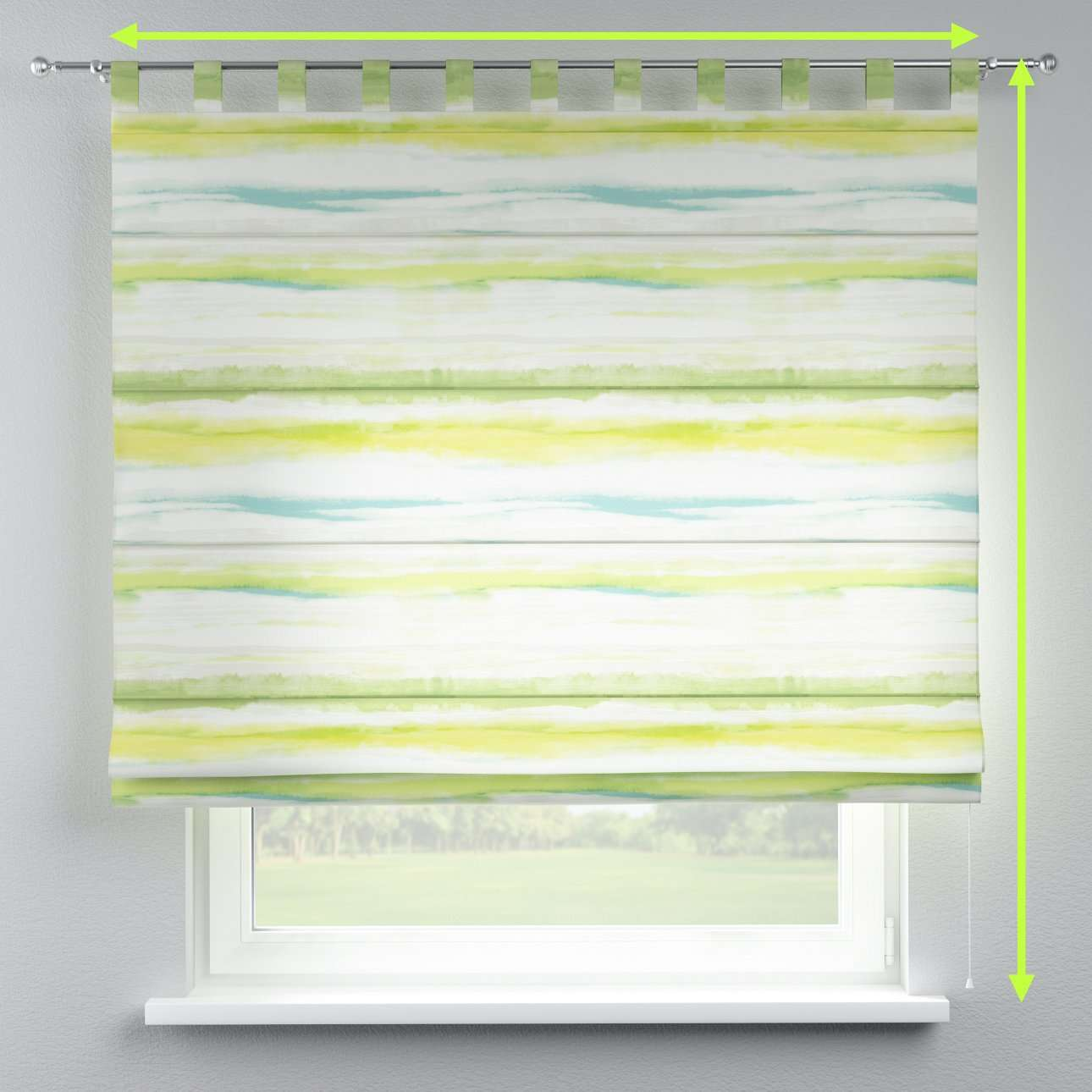 Verona tab top roman blind in collection Aquarelle, fabric: 140-68