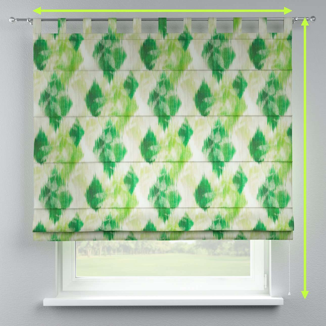 Verona tab top roman blind in collection Aquarelle, fabric: 140-70