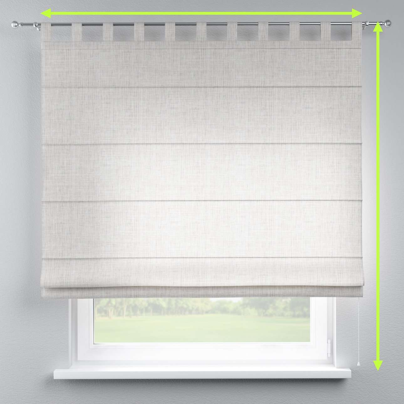 Verona tab top roman blind in collection Aquarelle, fabric: 140-75