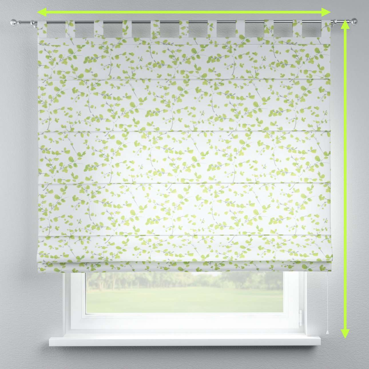 Verona tab top roman blind in collection Aquarelle, fabric: 140-76