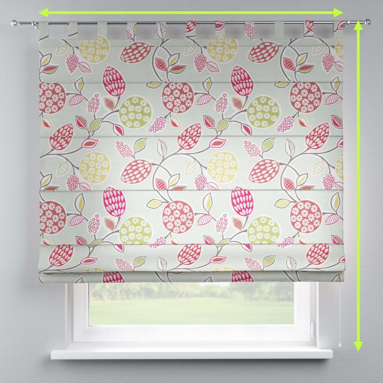 Verona tab top roman blind in collection Norge, fabric: 140-78