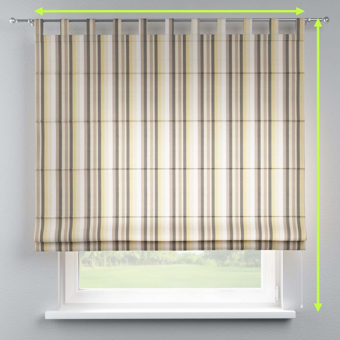 Verona tab top roman blind in collection Norge, fabric: 140-80