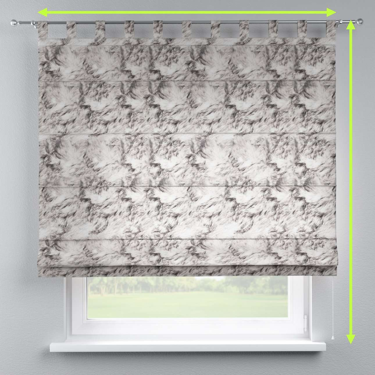 Verona tab top roman blind in collection Norge, fabric: 140-82