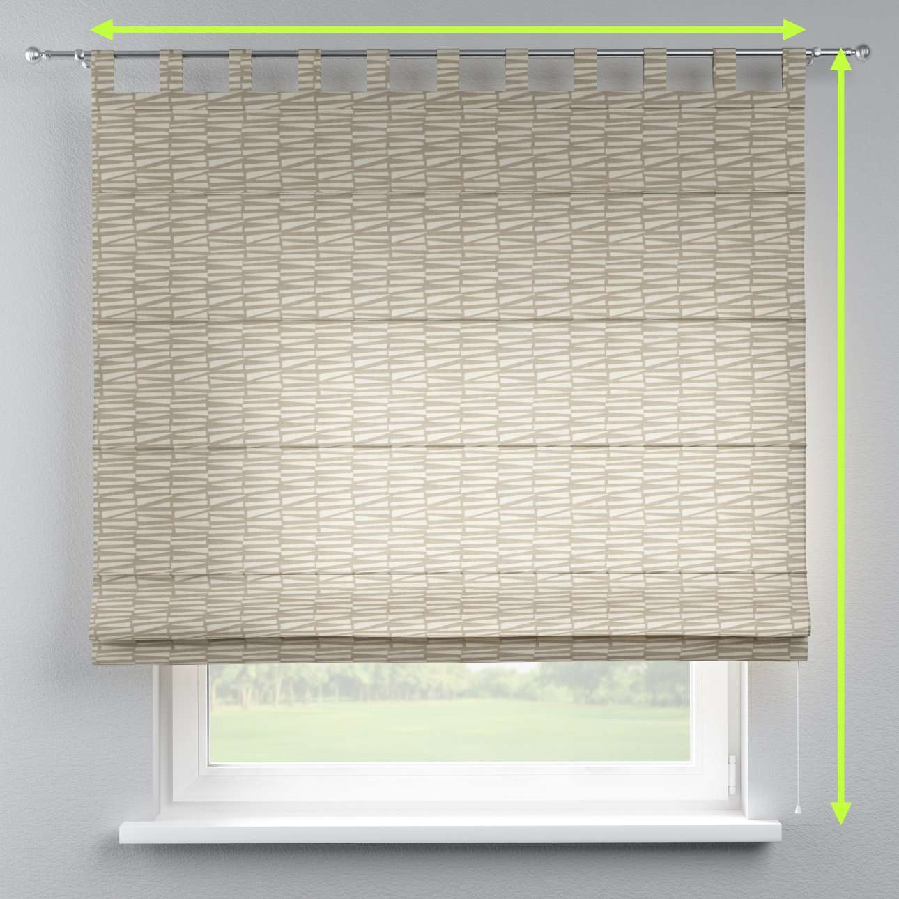 Verona tab top roman blind in collection Norge, fabric: 140-84