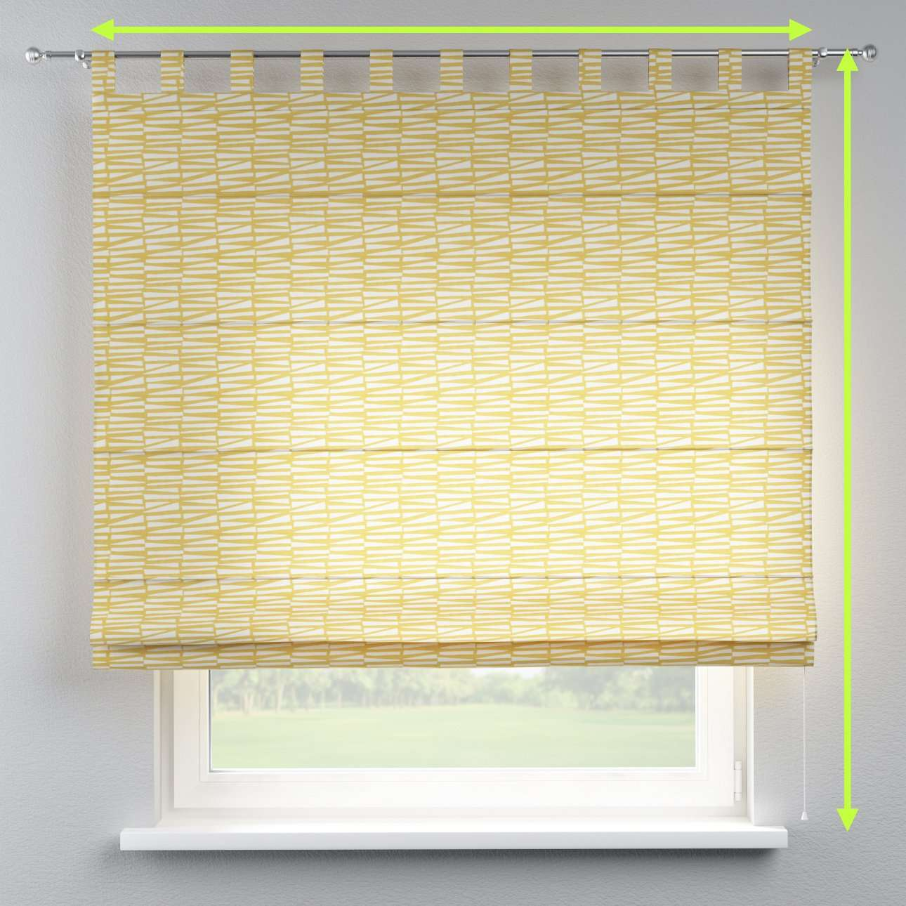 Verona tab top roman blind in collection Norge, fabric: 140-86