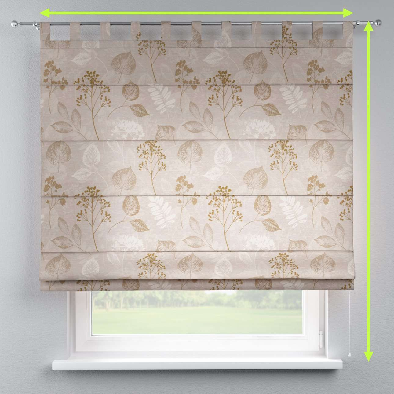 Verona tab top roman blind in collection Norge, fabric: 140-87