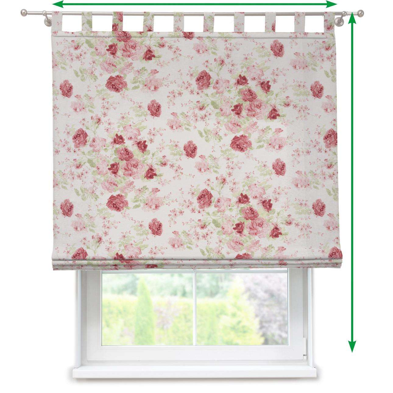Verona tab top roman blind in collection Flowers, fabric: 140-90