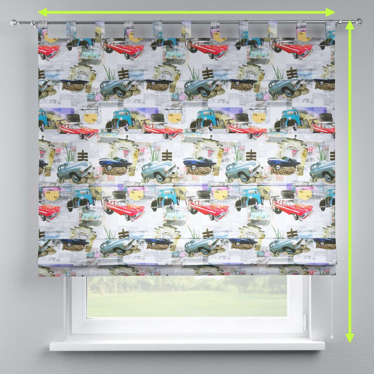 Verona tab top roman blind in collection Freestyle, fabric: 140-91
