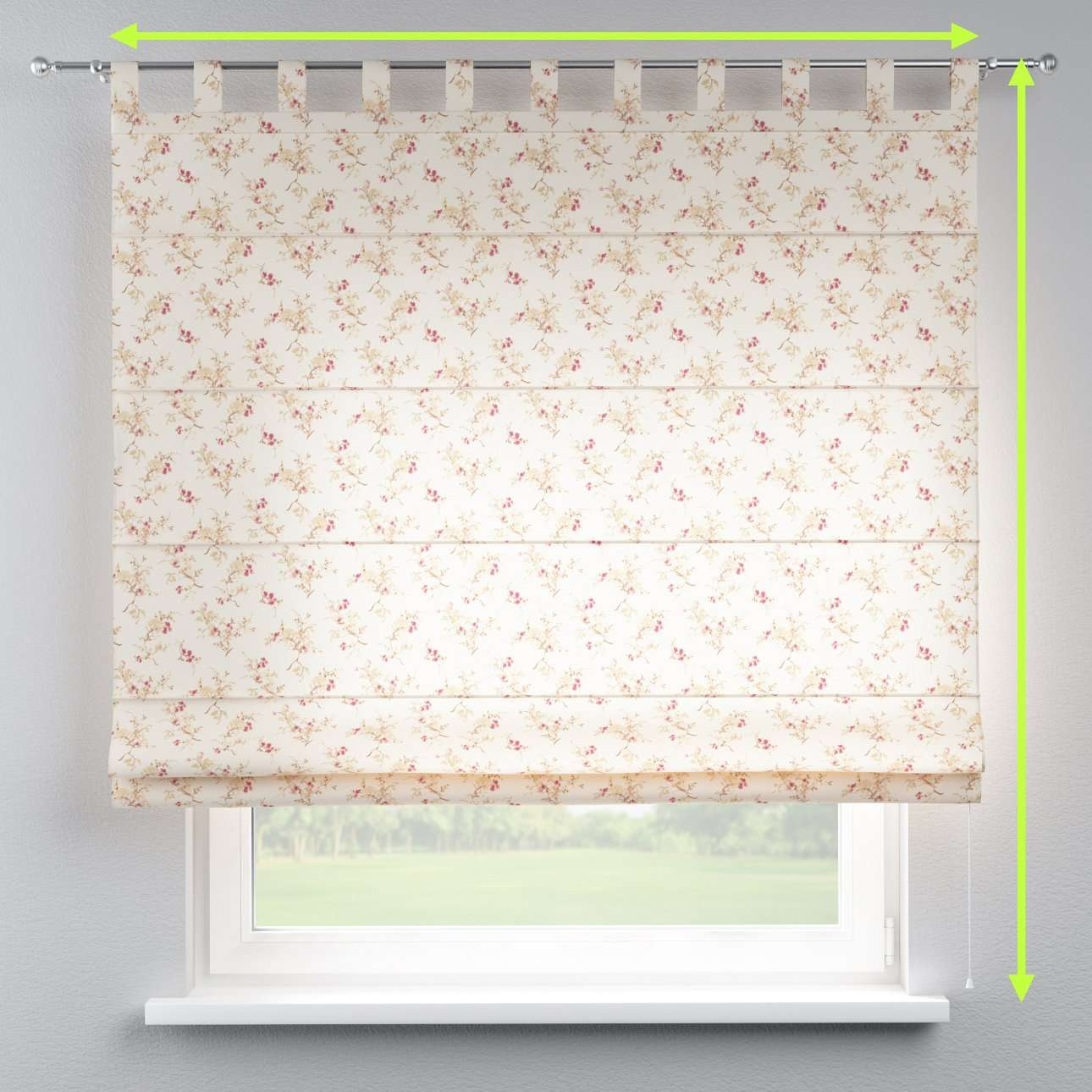 Verona tab top roman blind in collection Mirella, fabric: 141-11