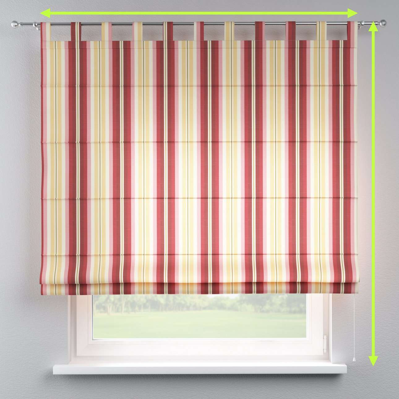 Verona tab top roman blind in collection Mirella, fabric: 141-12