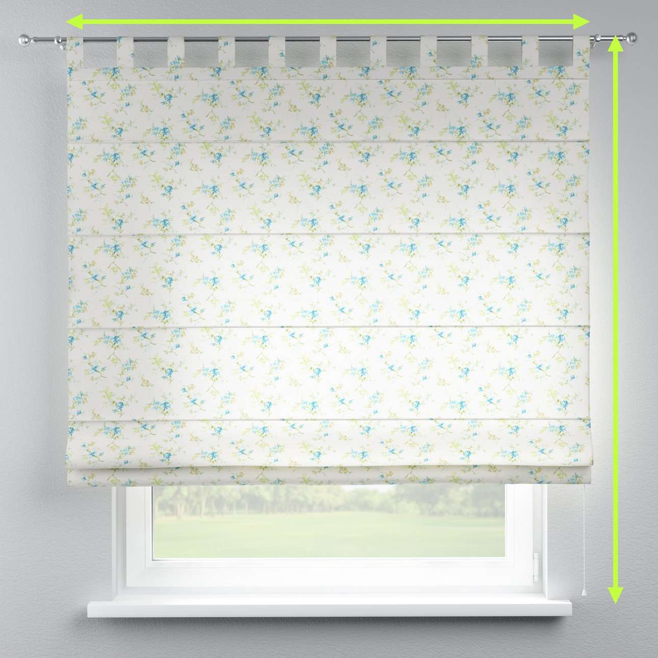 Verona tab top roman blind in collection Mirella, fabric: 141-16