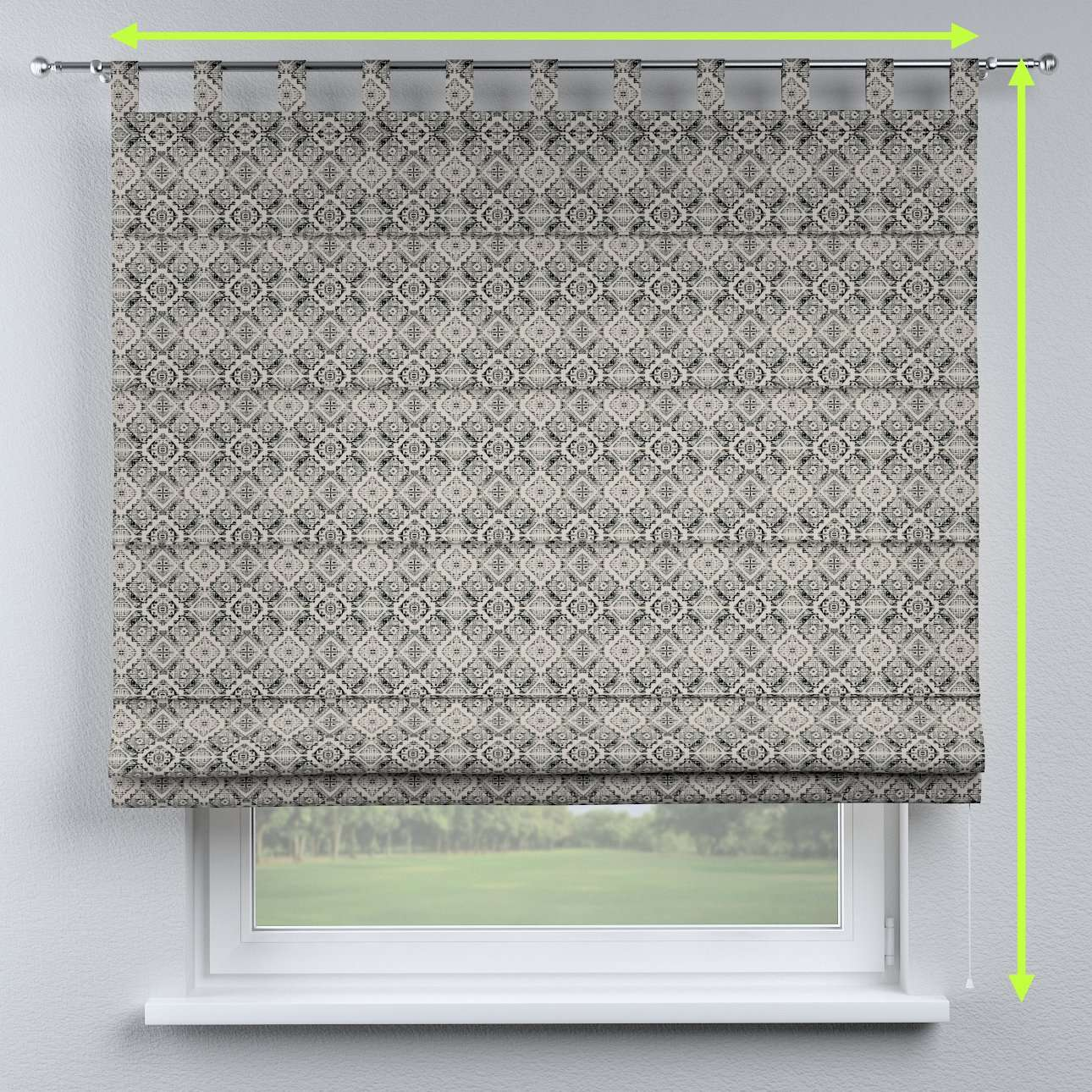 Verona tab top roman blind in collection Comic Book & Geo Prints, fabric: 141-18