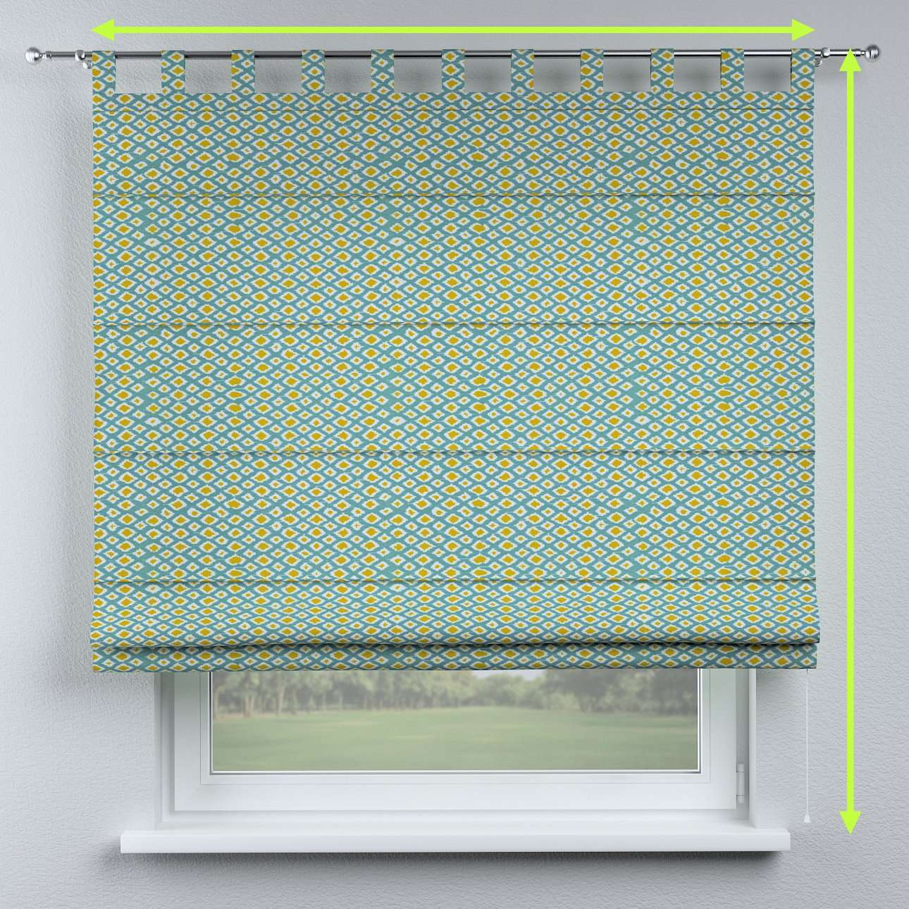 Verona tab top roman blind in collection Comics/Geometrical, fabric: 141-20