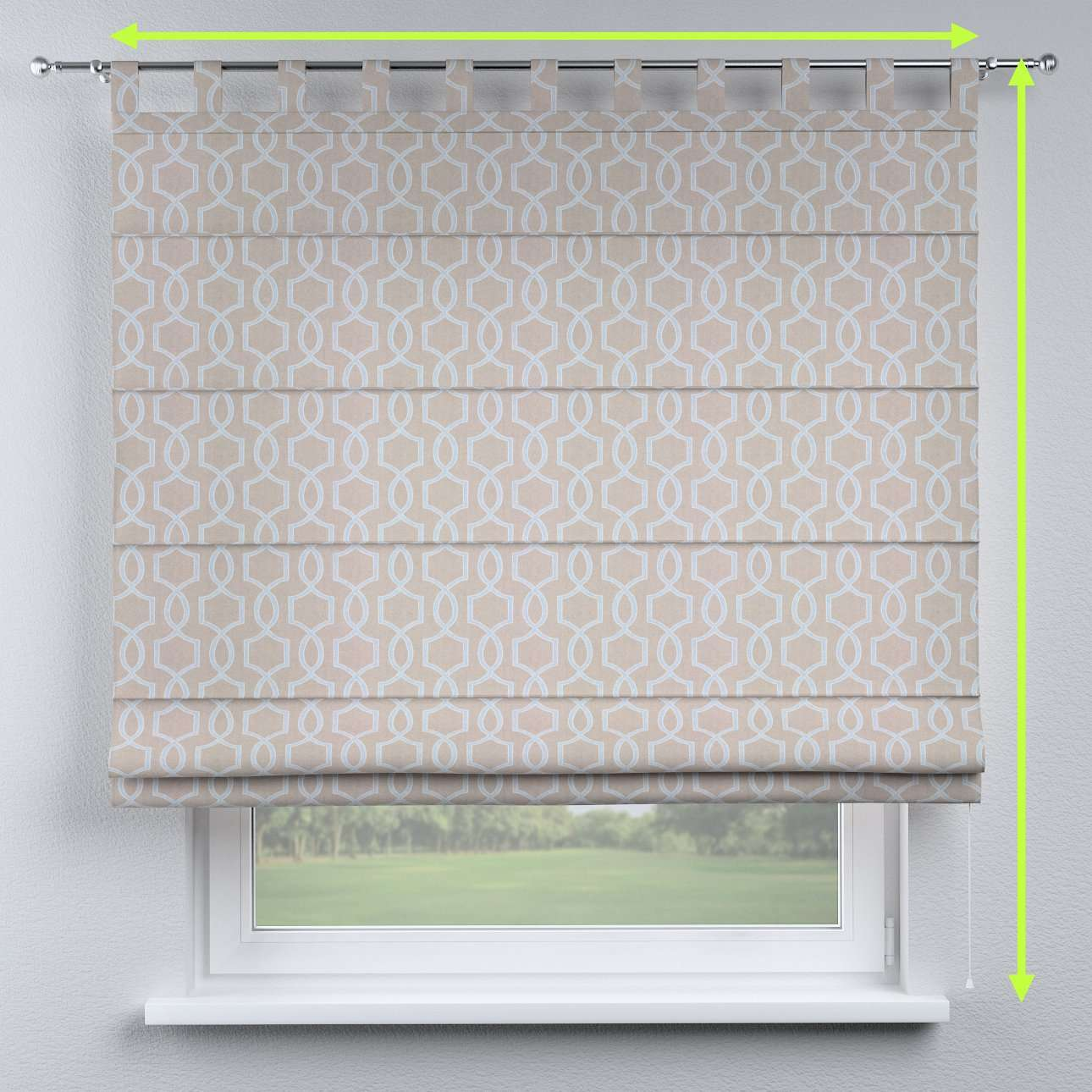 Verona tab top roman blind in collection Comic Book & Geo Prints, fabric: 141-26