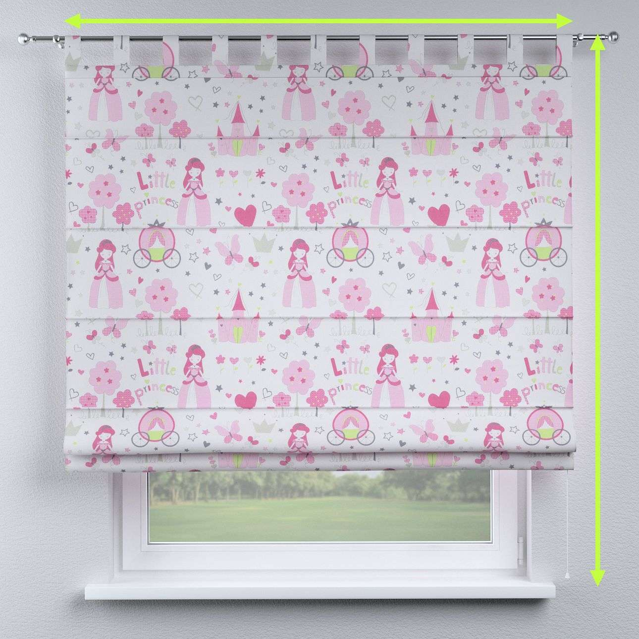 Verona tab top roman blind in collection Little World, fabric: 141-28