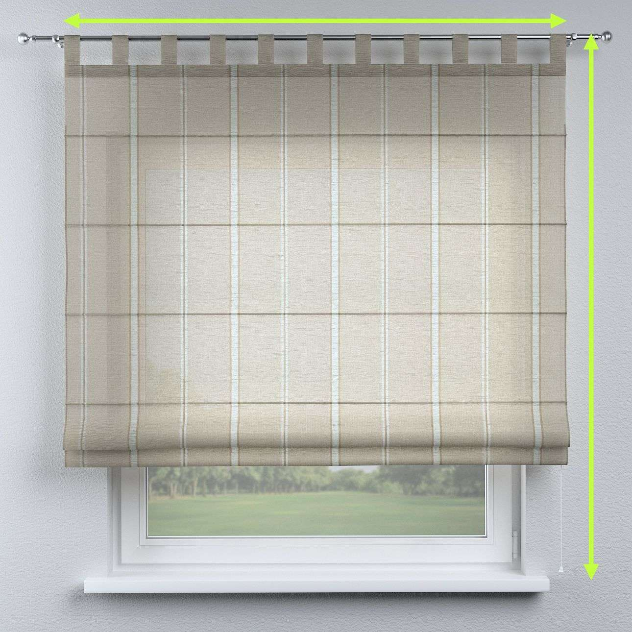 Verona tab top roman blind in collection Romantica, fabric: 141-32