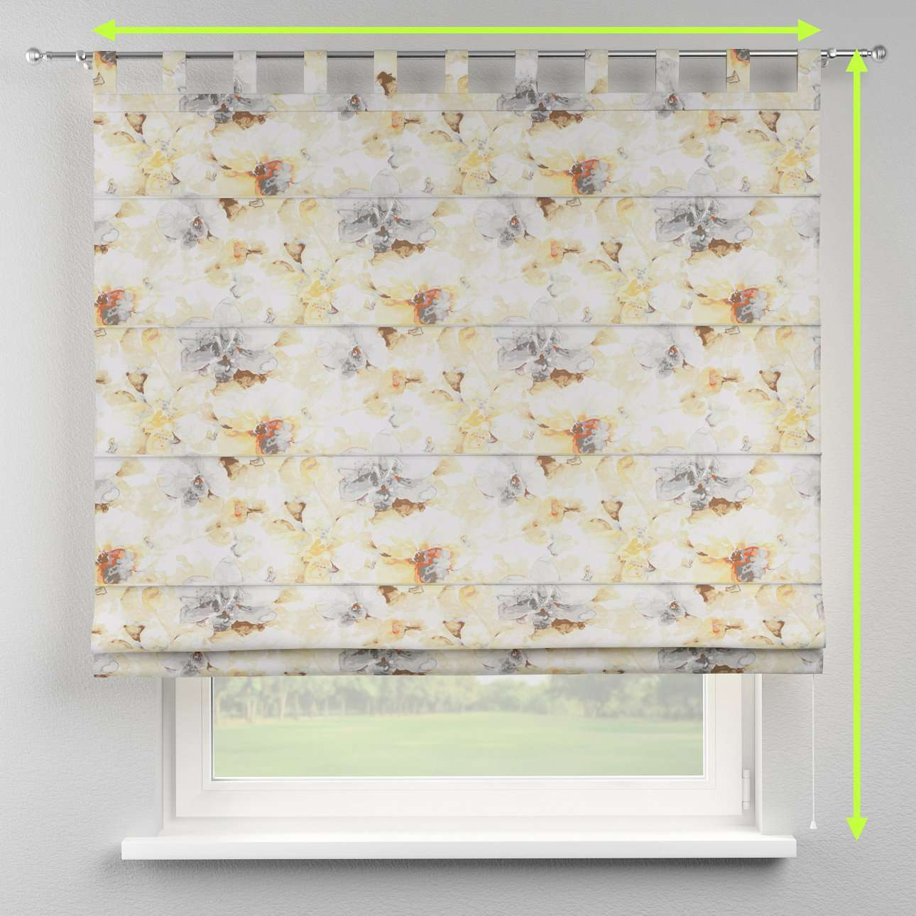 Verona tab top roman blind in collection Acapulco, fabric: 141-33