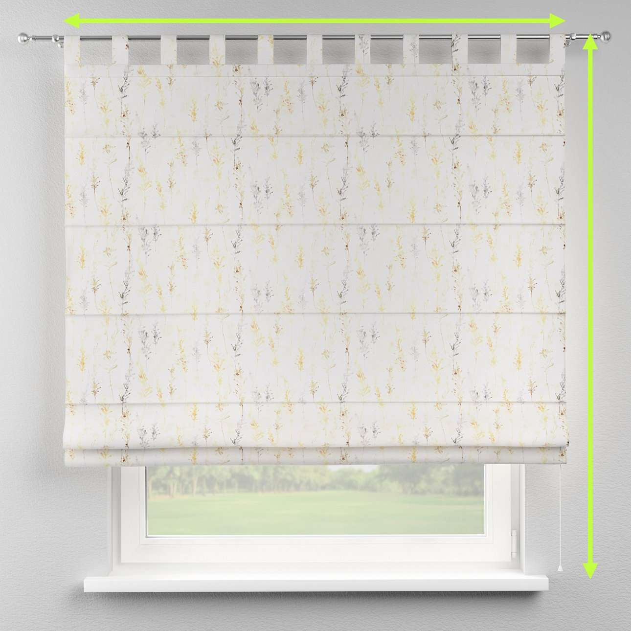 Verona tab top roman blind in collection Acapulco, fabric: 141-36