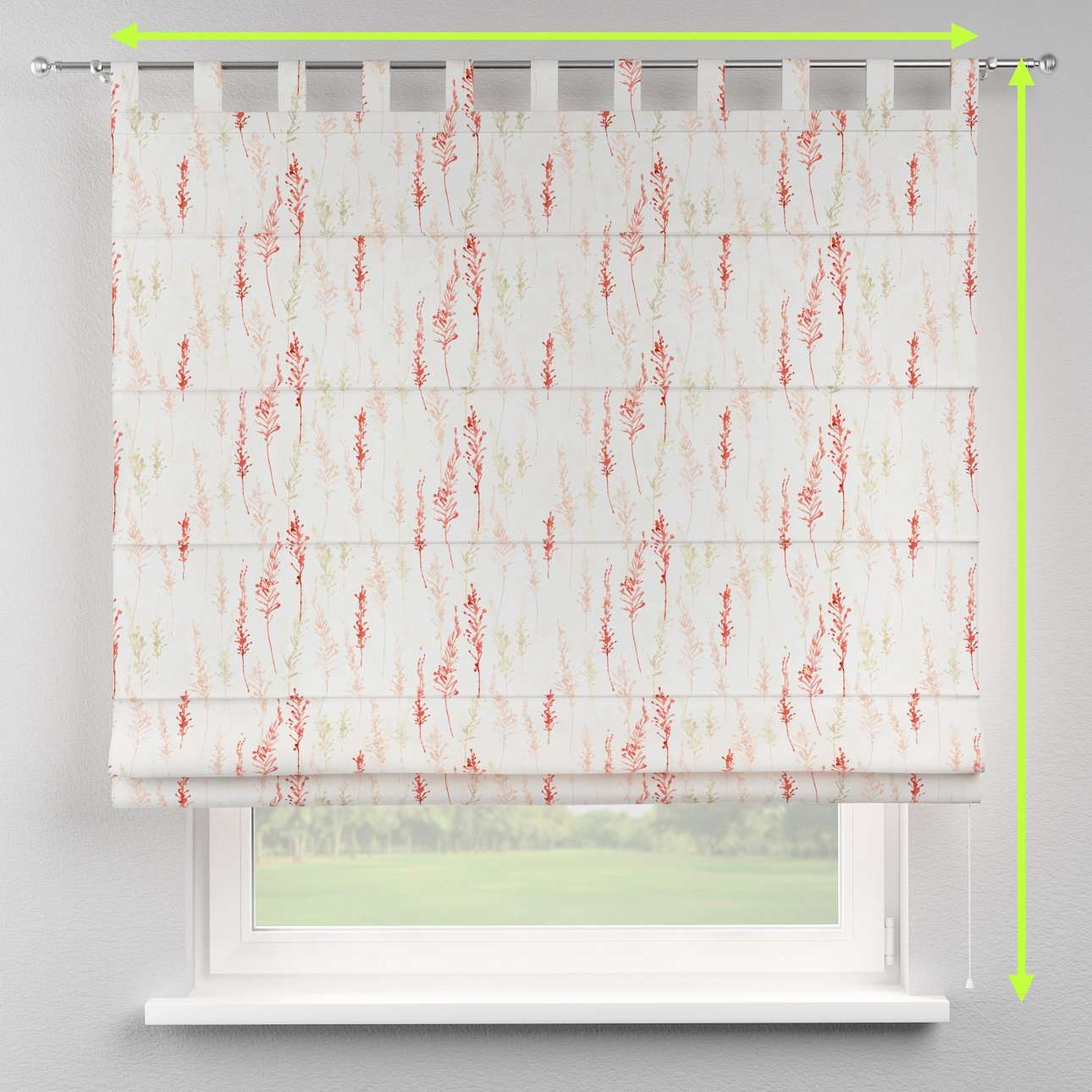 Verona tab top roman blind in collection Acapulco, fabric: 141-37