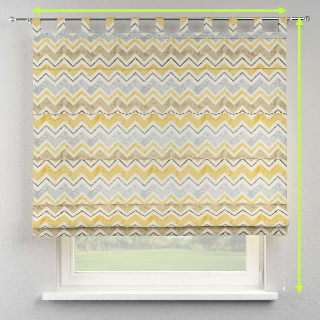 Verona tab top roman blind in collection Acapulco, fabric: 141-39