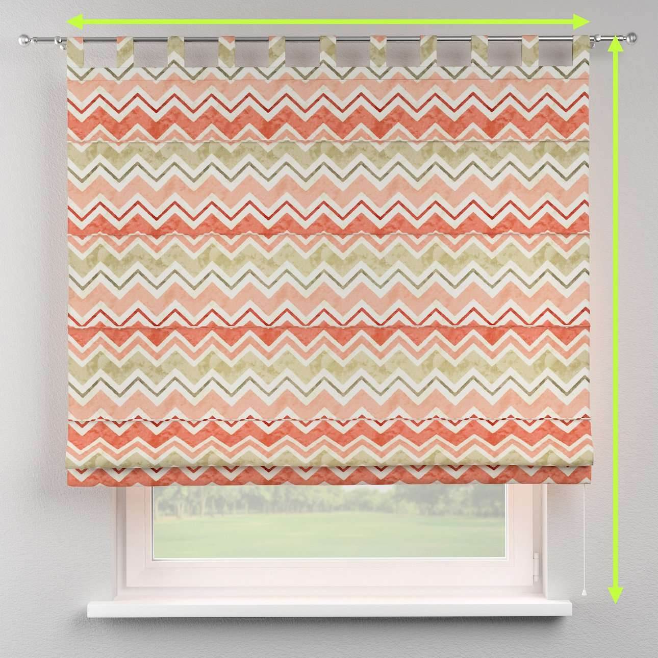 Verona tab top roman blind in collection Acapulco, fabric: 141-40
