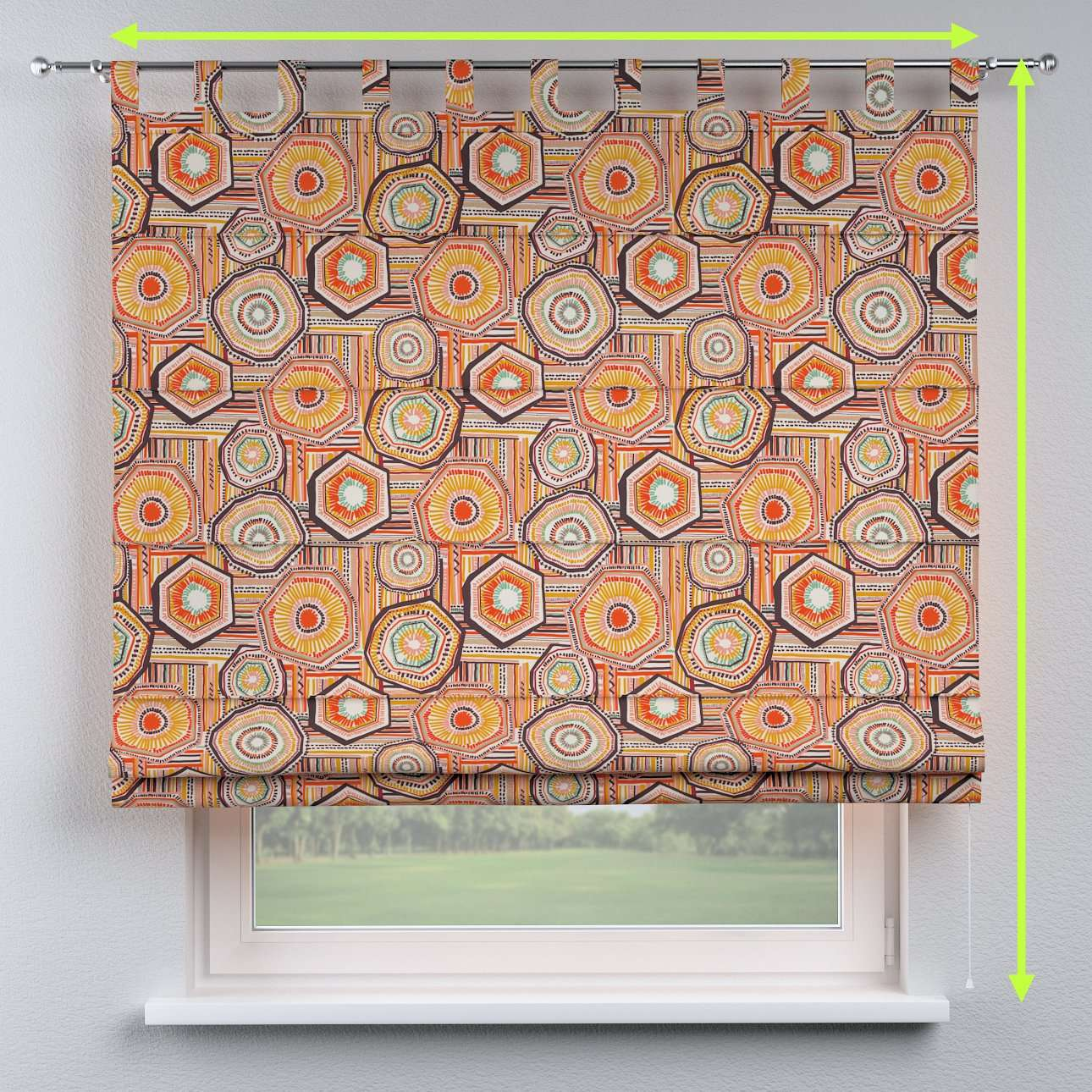 Verona tab top roman blind in collection New Art, fabric: 141-55