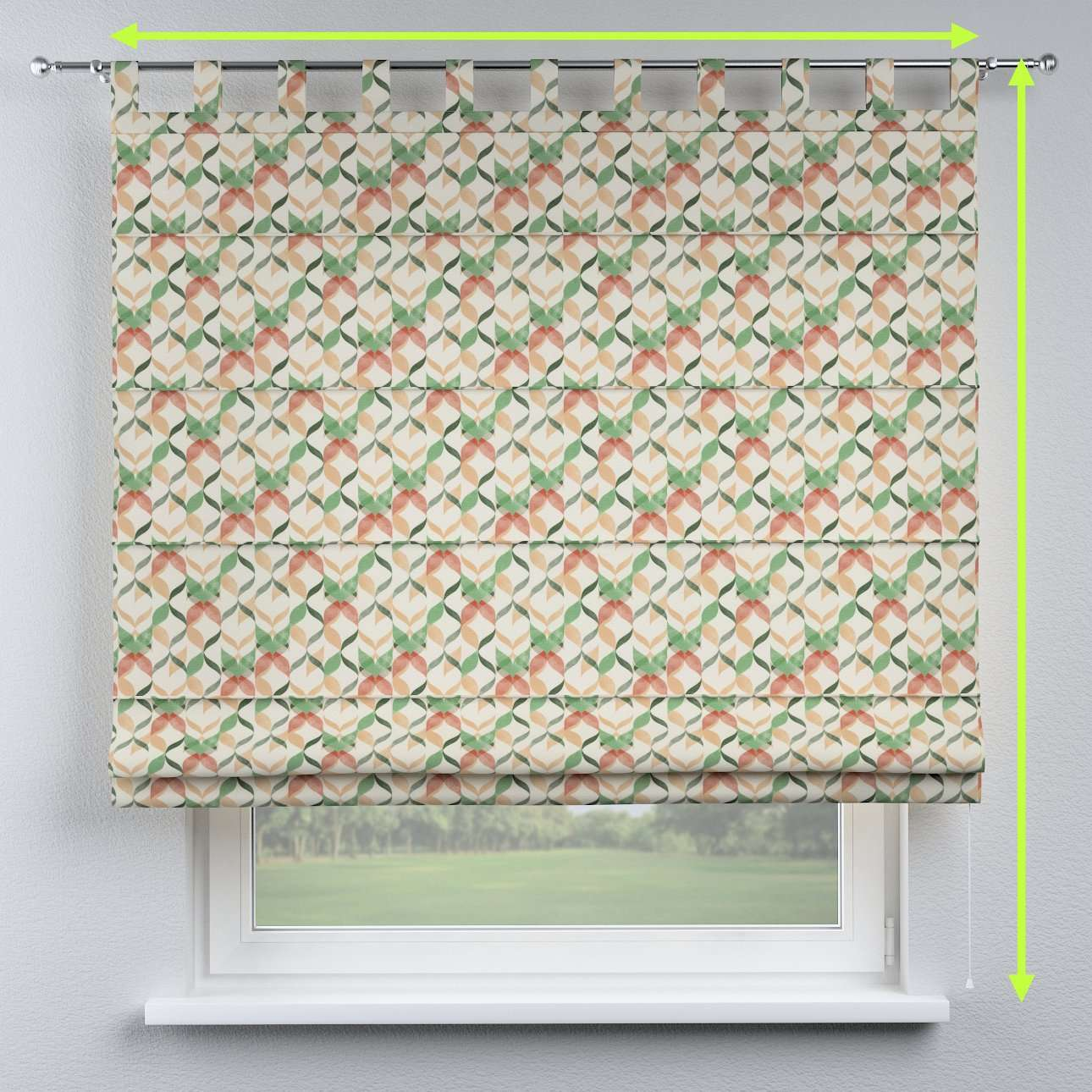 Verona tab top roman blind in collection Urban Jungle, fabric: 141-64