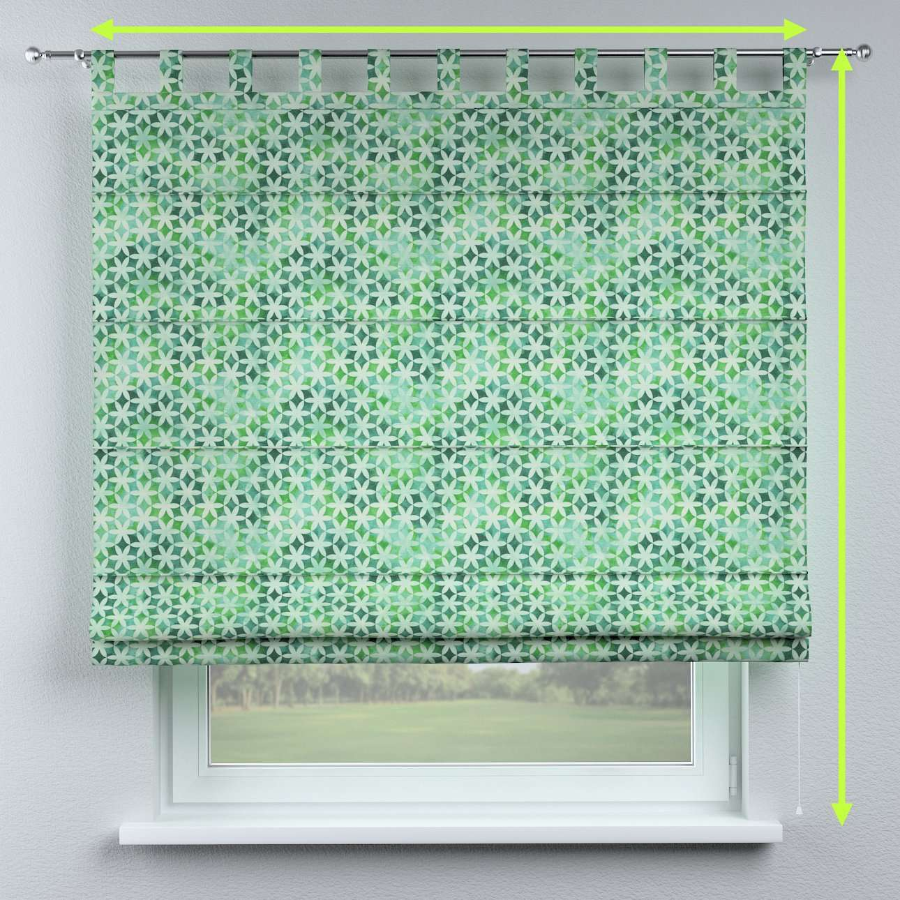 Verona tab top roman blind in collection Urban Jungle, fabric: 141-65