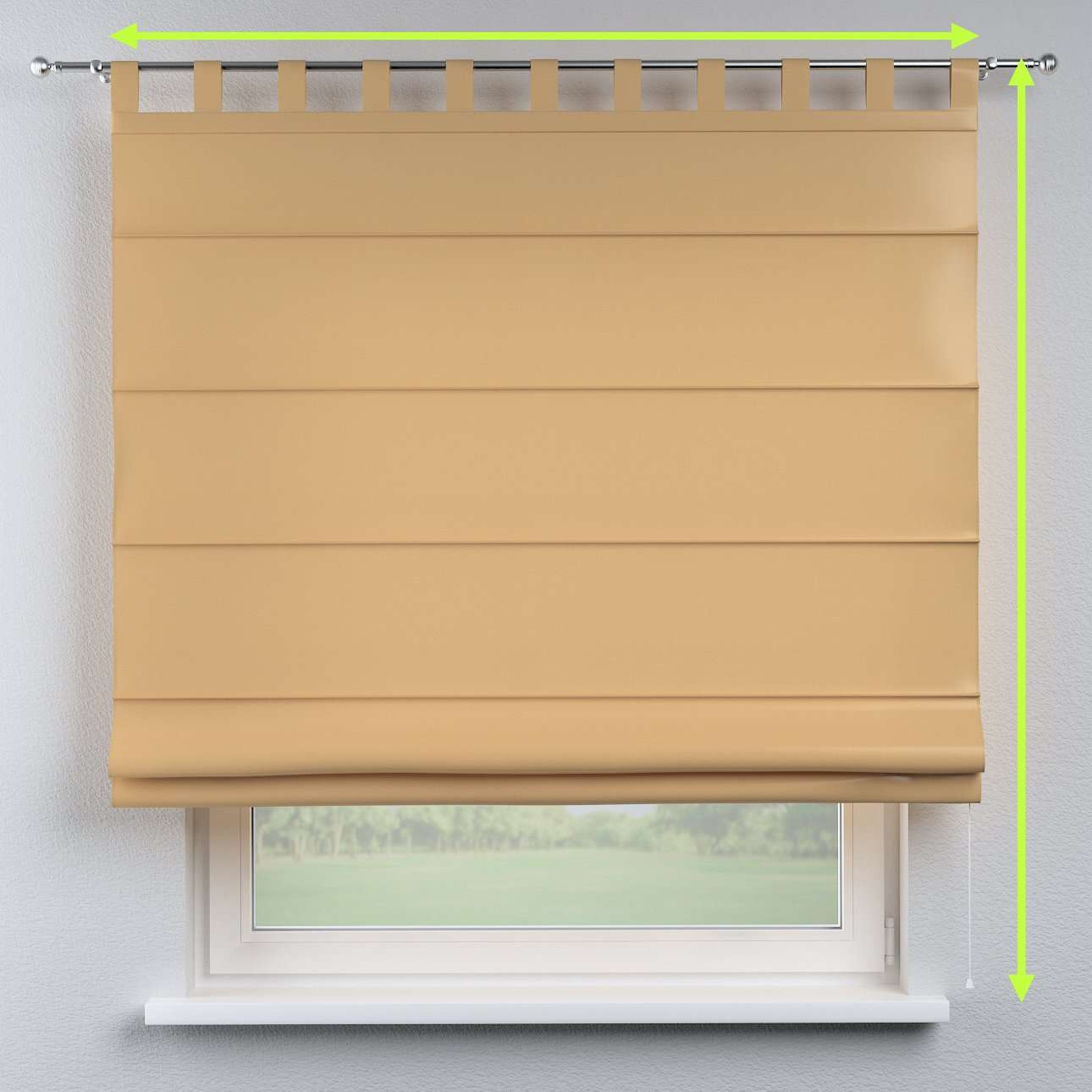 Verona tab top roman blind in collection Damasco, fabric: 141-75