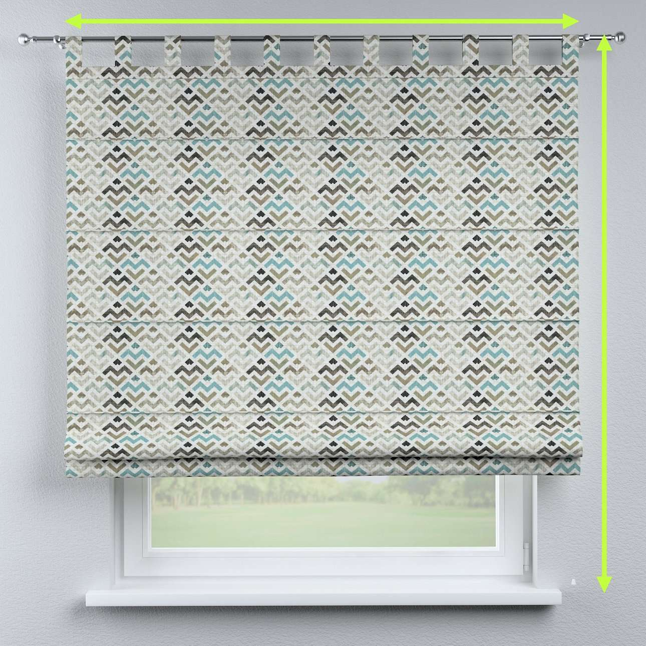 Verona tab top roman blind in collection Modern, fabric: 141-93