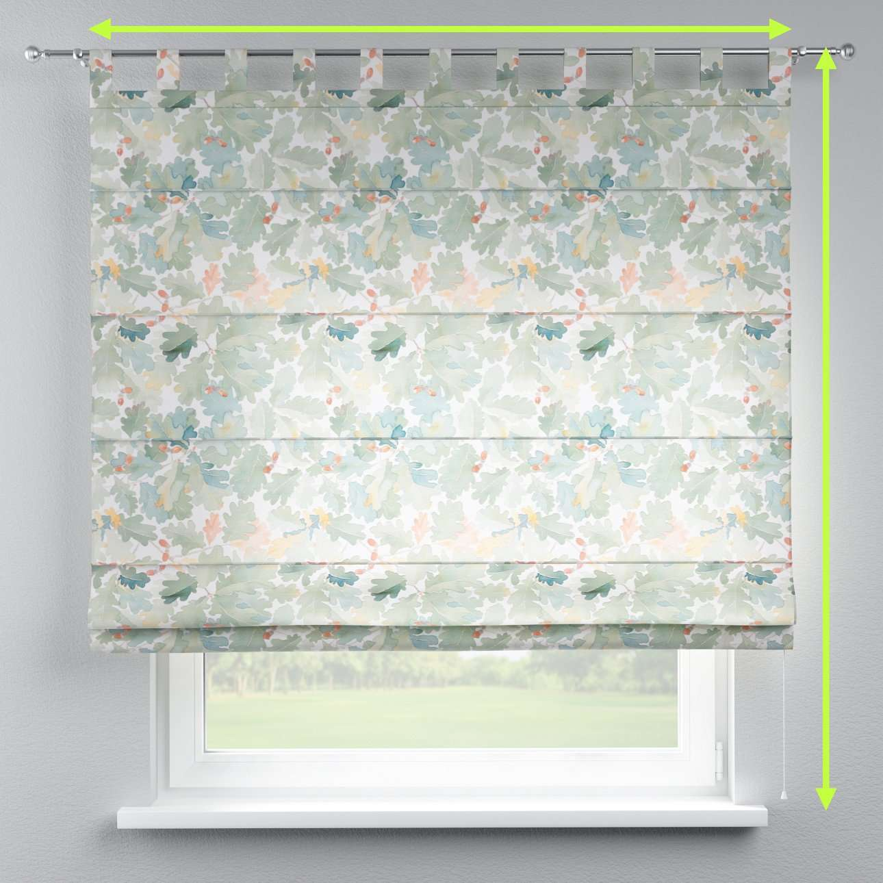 Verona tab top roman blind in collection Norge, fabric: 150-17